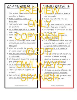 Realidades 2 - 1A - Onesie Twosie - Spanish Class Vocab + Affirmative & Negative