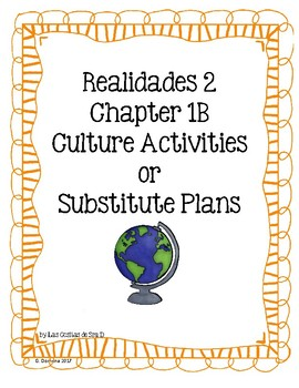 Realidades 2 1B Cultural Activities-Read and Respond
