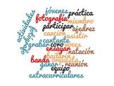 Realidades 2 1B Vocabulary Word Cloud