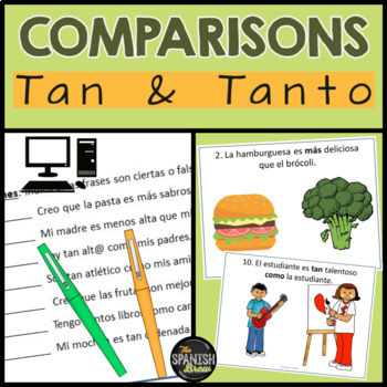 Realidades Spanish 2 1B comparisons (including tan and tanto)