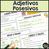 Realidades Spanish 2 2A intro to possessive adjectives- natural approach