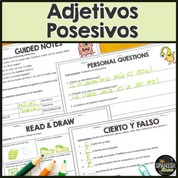 Spanish 2  intro to possessive adjectives- natural approach