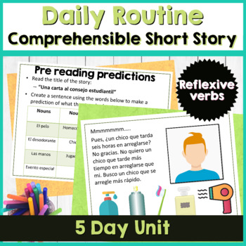Realidades Spanish 2 2A short story using reflexive verbs