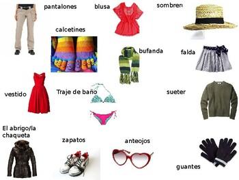Realidades 2: 2B Clothing, Styles, Colors, Shopping