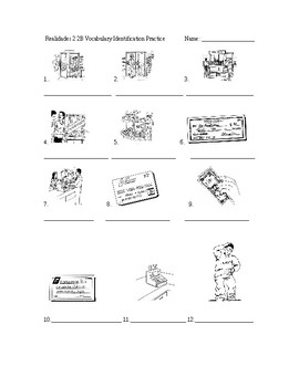 Realidades 2 2B Vocabulary Identification Practice