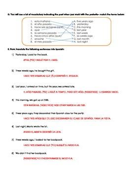 Realidades 2 2B practice regular preterite -AR, -ER and -IR and -CAR, -GAR, -ZAR
