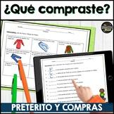 Realidades Spanish 2 2B sentence translations- preterite & shopping