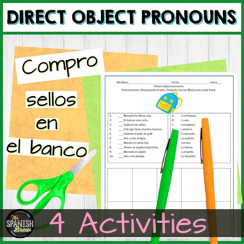 Spanish 2 introduction to direct object pronouns natural approach