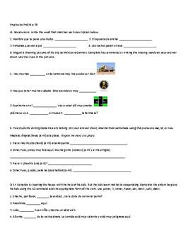 Realidades 2 3B Practice Exam