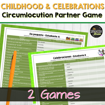 Realidades 2 4A 4B vocabulary practice circumlocution game