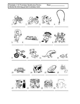 Realidades 2 4A Vocabulary Identification Practice/Quiz