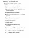Realidades 2 4B Vocabulary Practice