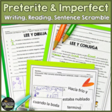 Spanish 2 preterite vs. imperfect practice and interpersonal writing & worksheet