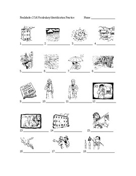 Realidades 2 5A Vocabulary Identification Practice