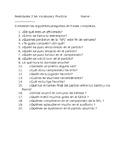 Realidades 2 6A Vocabulary Practice