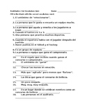 Realidades 2 6A Vocabulary Quiz