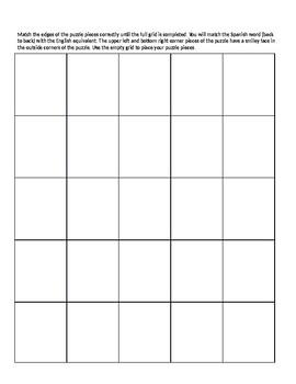 Realidades 2 6B Vocabulary Puzzle