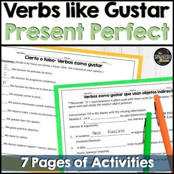 Realidades Spanish 2 6B grammar practice: review present perfect, verbs w IOP