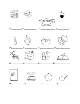 Realidades 2 7A Vocabulary Identification Practice/Quiz