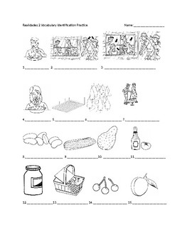 Realidades 2 7B Vocabulary Identification Practice