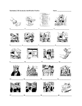 Realidades 2 8B Vocabulary Identification Practice/Quiz