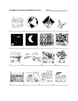 Realidades 2 9B Vocabulary Identification Practice/Quiz