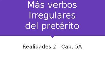 Realidades 2: Ch. 5A Irregular Preterite (oír, leer, creer, destruir) PPT