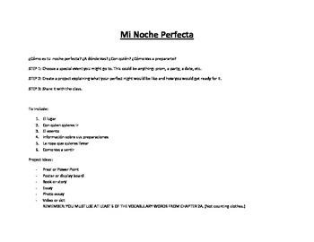 Realidades 2 Capítulo 2A Project Rubric