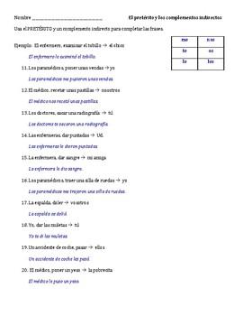 Realidades 2, Capítulo 5B: El pretérito y los complementos indirectos