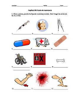 Realidades 2 Capítulo 5B vocab quiz/practice, accidents and injuries vocab