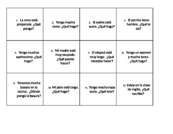 Realidades 2: Capitulo 6B Envelope Activity
