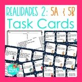 Realidades Auténtico 2 Capítulos 5A & 5B Task Cards | Spanish Review Activity