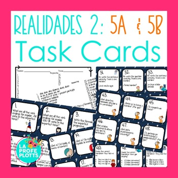 Realidades 2: Capítulos 5A & 5B Task Cards