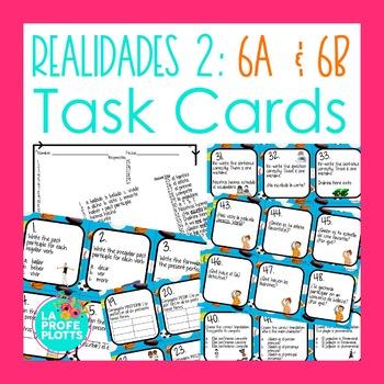 Realidades 2: Capítulos 6A & 6B Task Cards