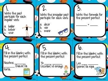 48 Realidades 2: Capítulos 6A & 6B Task Cards | Spanish Review Activity
