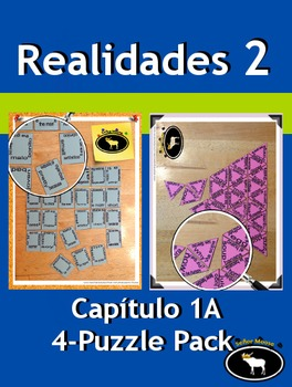Realidades 2 Capítulo 1A 4 Puzzle Pack
