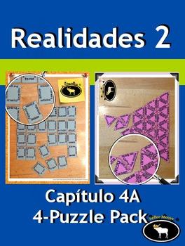 Realidades 2 Capítulo 4A 4 Puzzle Pack