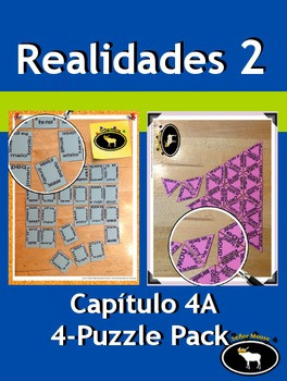Realidades 2 Capítulo 4A 4 Puzzle Pack