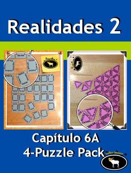 Realidades 2 Capítulo 6A 4 Puzzle Pack
