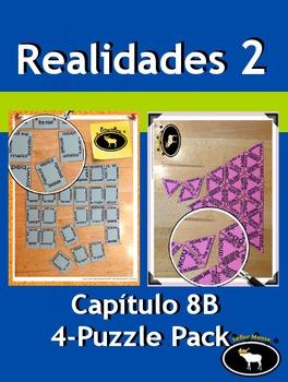 Realidades 2 Capítulo 8B 4 Puzzle Pack