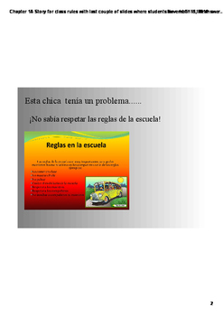 Realidades 2 Chapter 1A Story for class rules