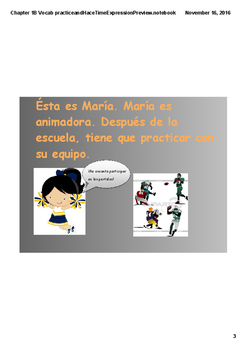 Realidades 2 Chapter 1B Story with vocabulary and hace time expressions