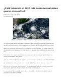 Realidades 2: Ch. 5A Natural Disaster Article + Comprehens