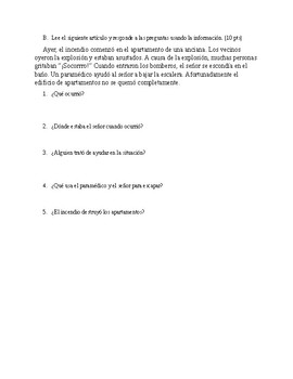 Realidades 2 Ch. 5A grammar Test-- imperfect v preterite