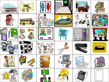 School Flash Cards (Realidades 2 Ch.1A)