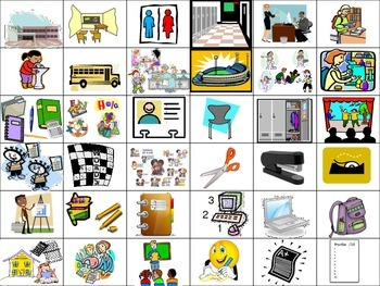 School Flash Cards (Realidades 2 Ch.1A)