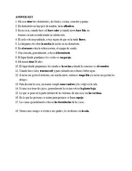 Realidades 2. Chaper 5. Tema 5 A ver si recuerdas. Quiz / Activity