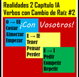 Realidades 2 Chapter 1A Common Stem-Changing Verbs Practice 2 VOSOTROS