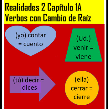 Realidades 2 Chapter 1A Stem-changing Verb Practice