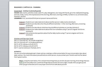 Realidades 2 Chapter 2A Unit Package